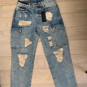 Carmar LF Alexander side cargo destroyed jeans 26